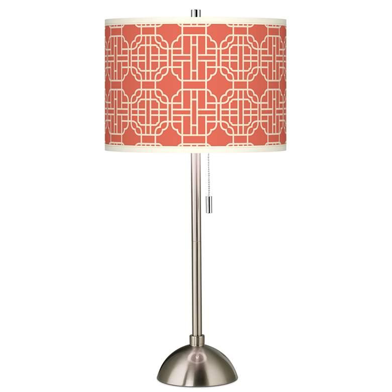 Mandarin Giclee Brushed Nickel Table Lamp