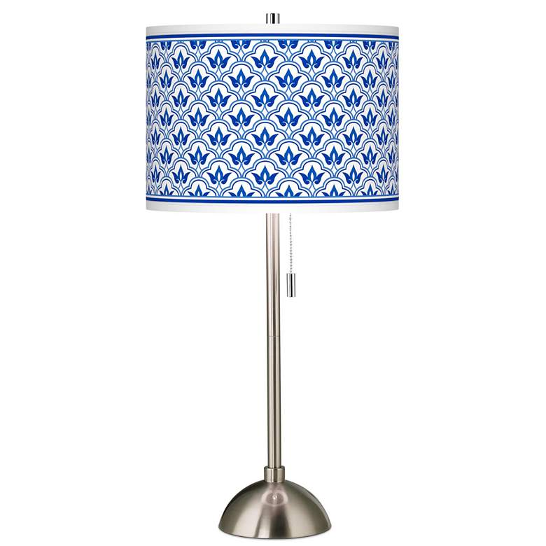 Arabella Giclee Brushed Nickel Table Lamp