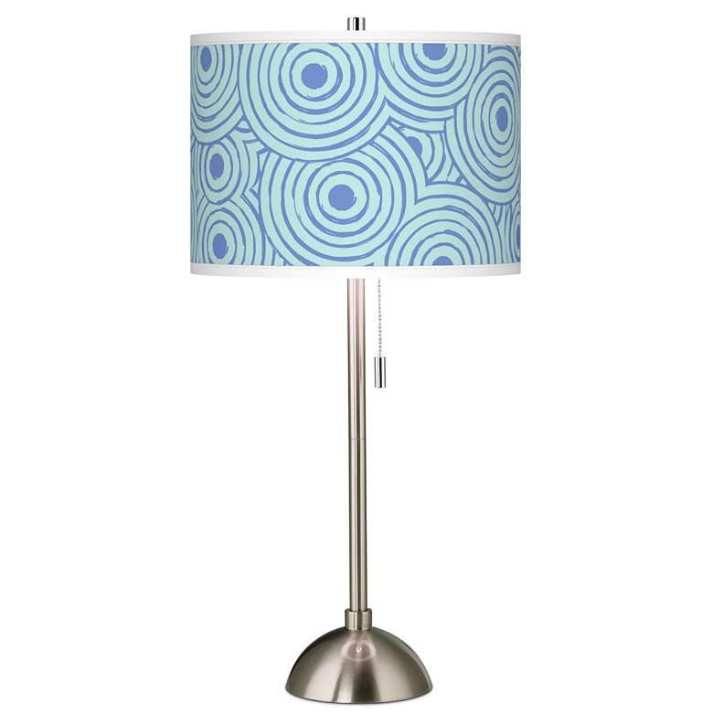 Circle Daze Giclee Brushed Nickel Table Lamp