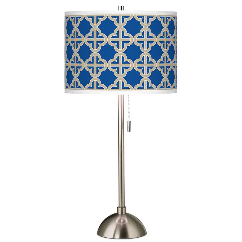 Four Corners Giclee Brushed Nickel Table Lamp