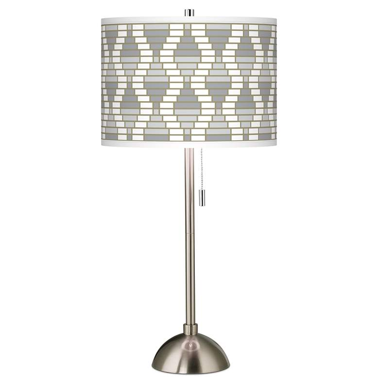 Stepping Out Giclee Brushed Nickel Table Lamp
