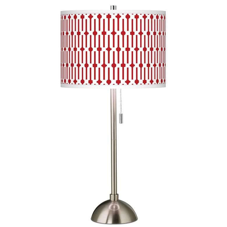 Amaze Giclee Brushed Nickel Table Lamp