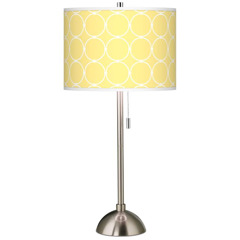 Lemon Interlace Giclee Brushed Nickel Table Lamp