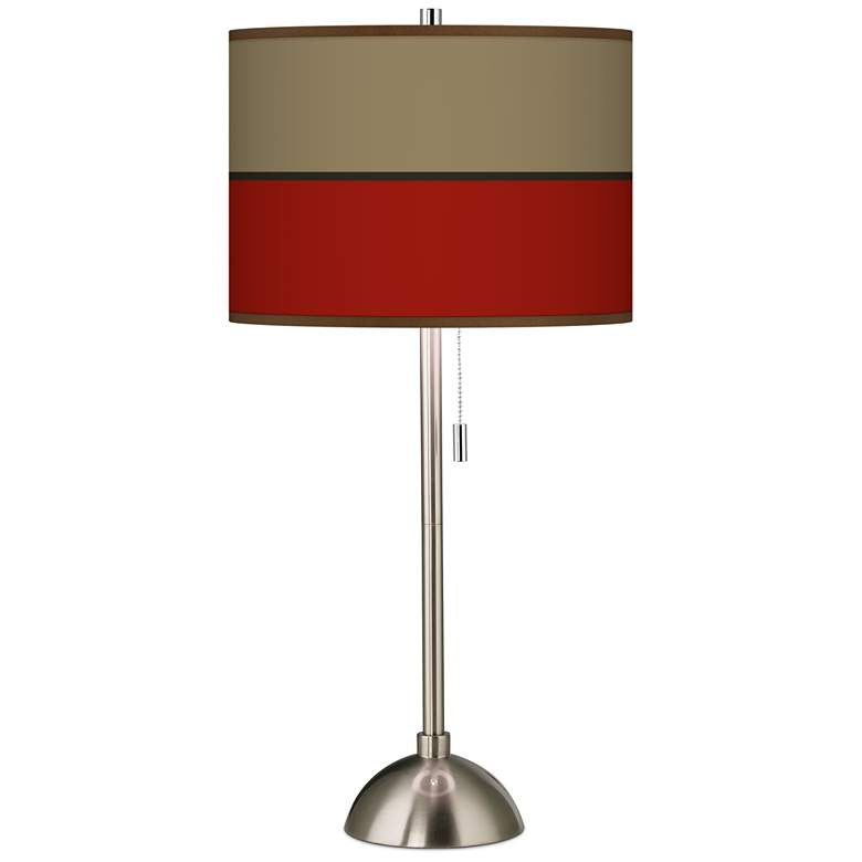 Empire Red Giclee Shade Table Lamp