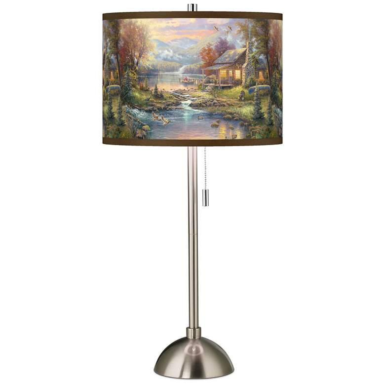 Thomas Kinkade Nature's Paradise Table Lamp