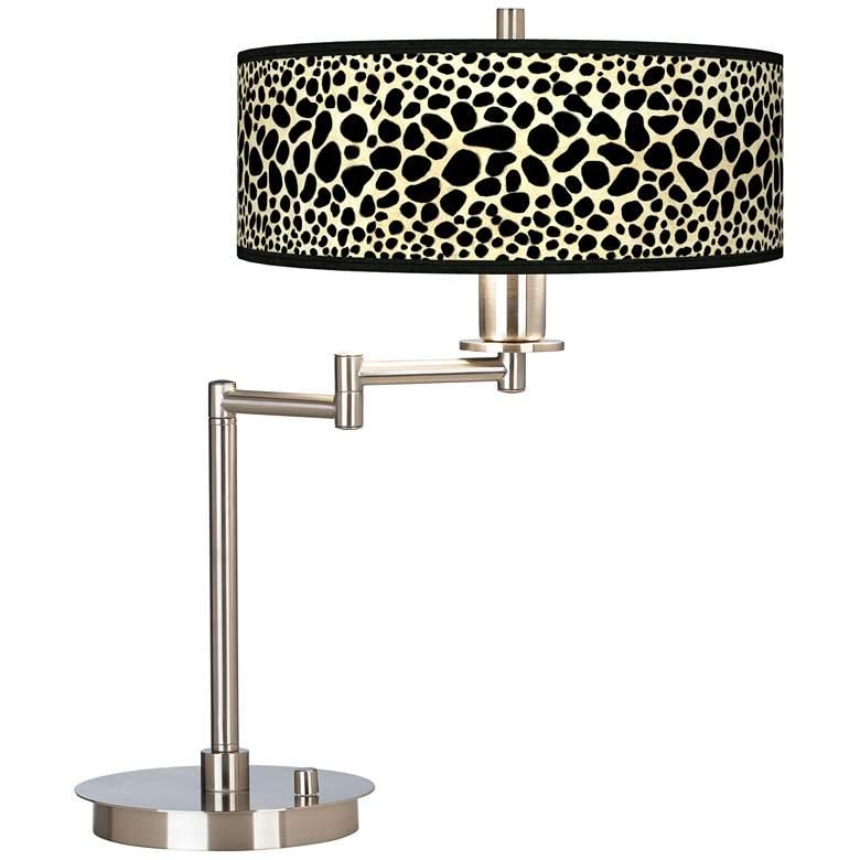 Leopard Giclee CFL Swing Arm Desk Lamp