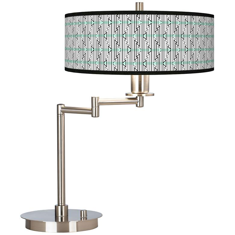 Indigenous Giclee CFL Swing Arm Desk Lamp