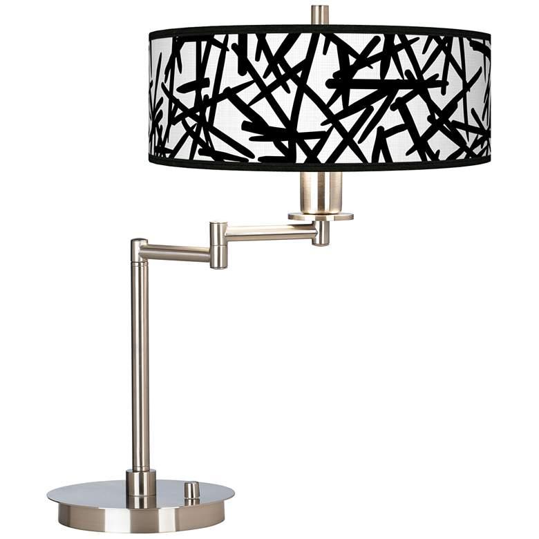 Sketchy Giclee CFL Swing Arm Desk Lamp