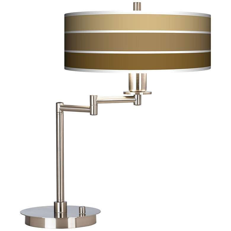 Tones Of Chestnut Giclee CFL Swing Arm Desk Lamp