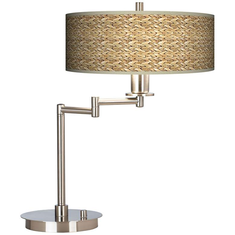 Seagrass Print Pattern Giclee CFL Swing Arm Desk Lamp