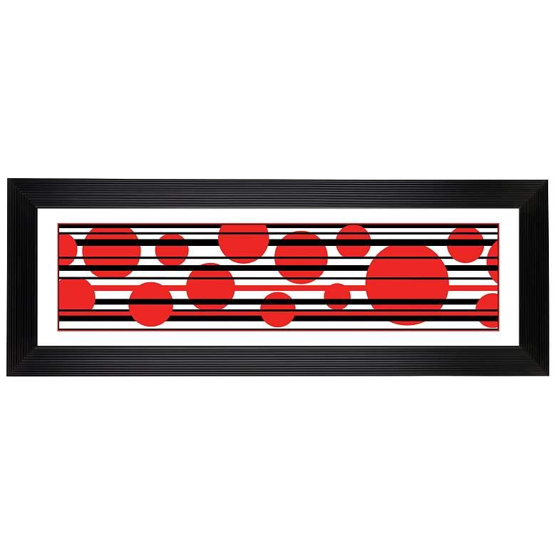 "Red Balls Giclee 52 1/8"" Wide Wall Art"