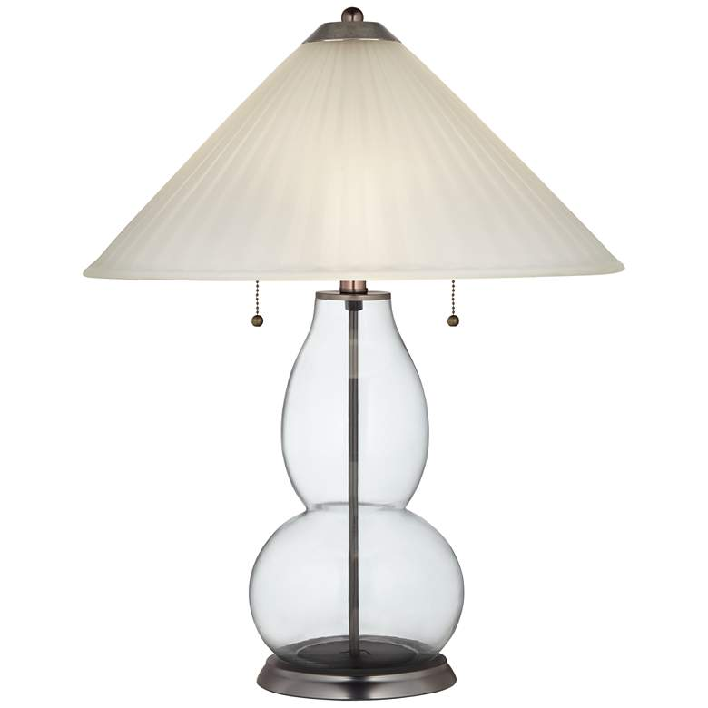 Clear Glass Fillable Fulton Table Lamp w/ Fluted