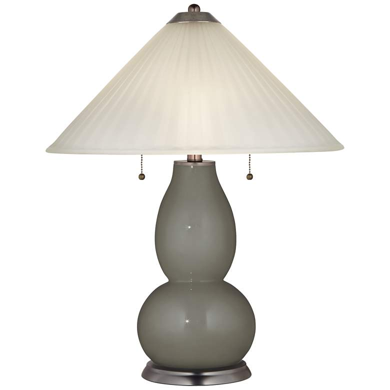 Gauntlet Gray Fulton Table Lamp with Fluted Glass Shade