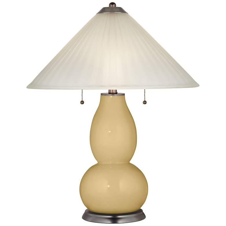 Humble Gold Fulton Table Lamp with Fluted Glass Shade