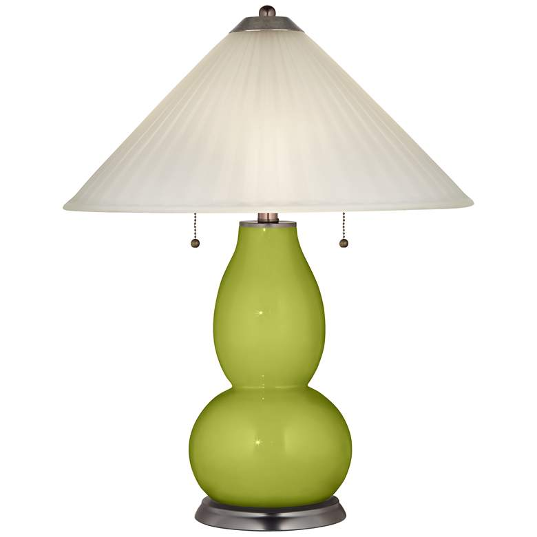 Parakeet Fulton Table Lamp with Fluted Glass Shade