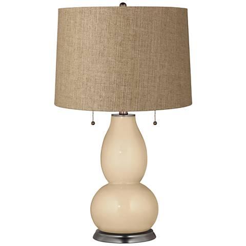Colonial Tan Tan Woven Fulton Table Lamp