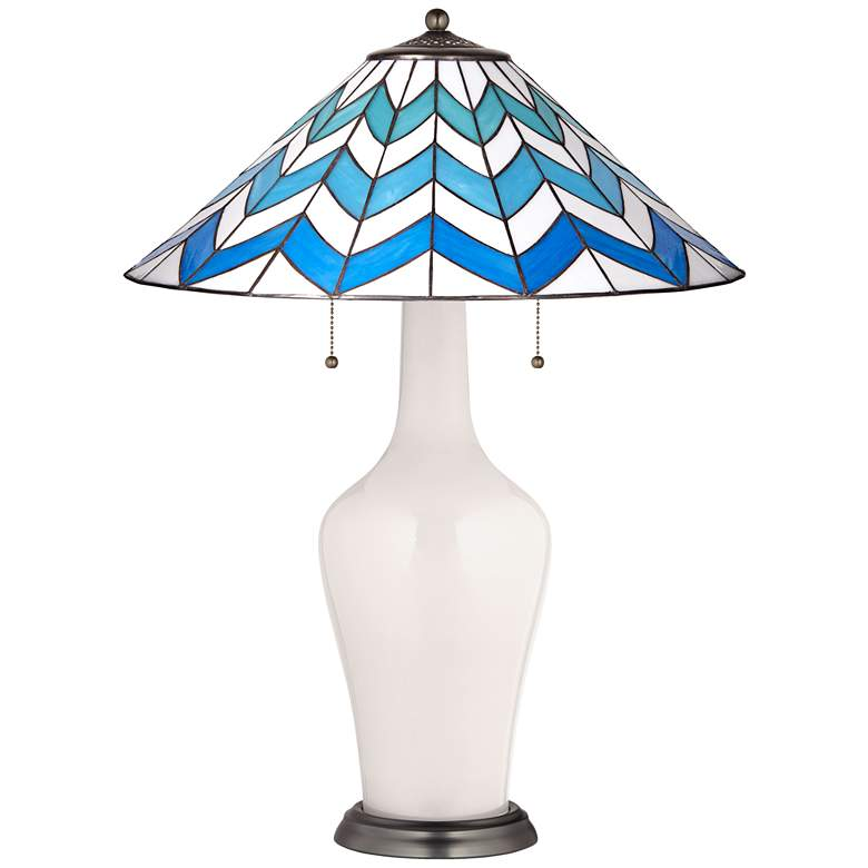 Clara Table Lamp in Smart White with Cascade