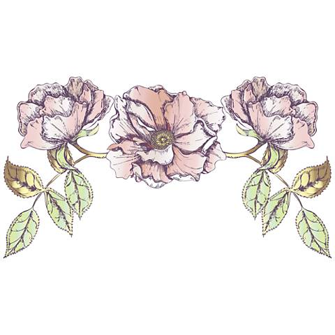 Rose Bloom Wall Decal Set