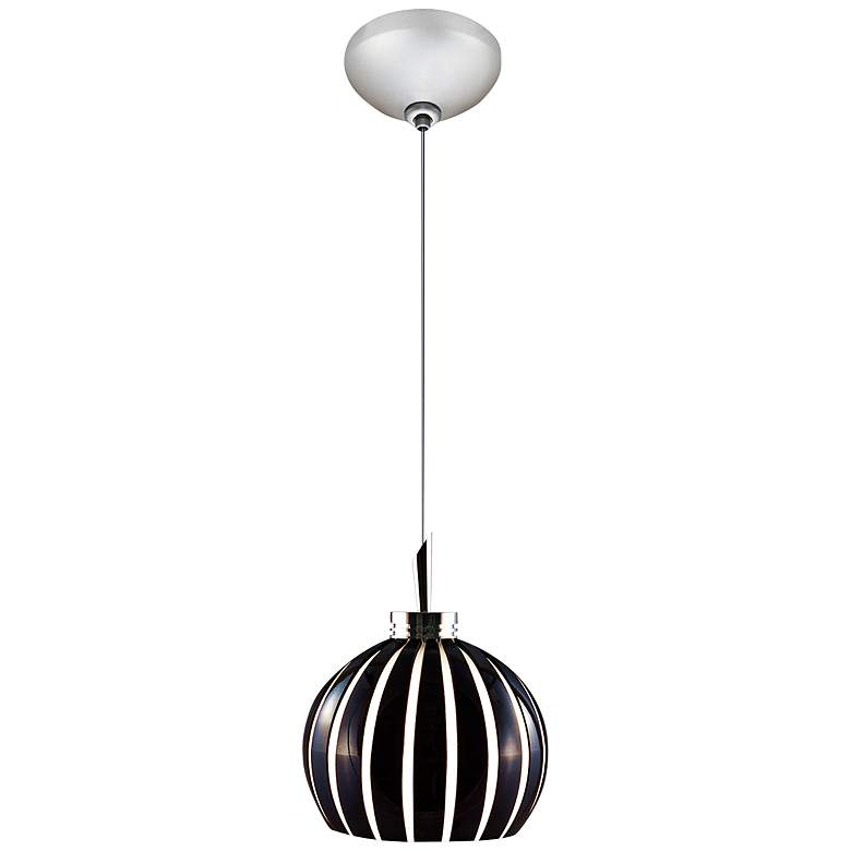 "Jesco Fabian 4 3/4"" Wide Black Cut Glass Mini Pendant"