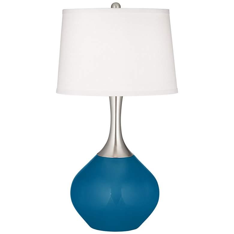 Mykonos Blue Spencer Table Lamp