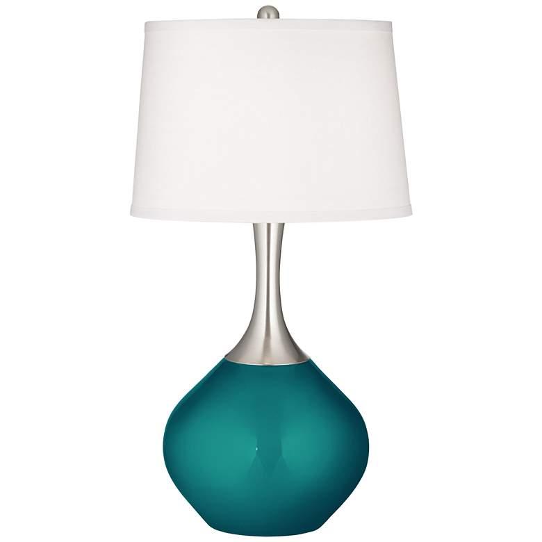 Magic Blue Metallic Spencer Table Lamp