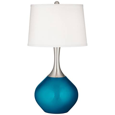 Turquoise Metallic Spencer Table Lamp