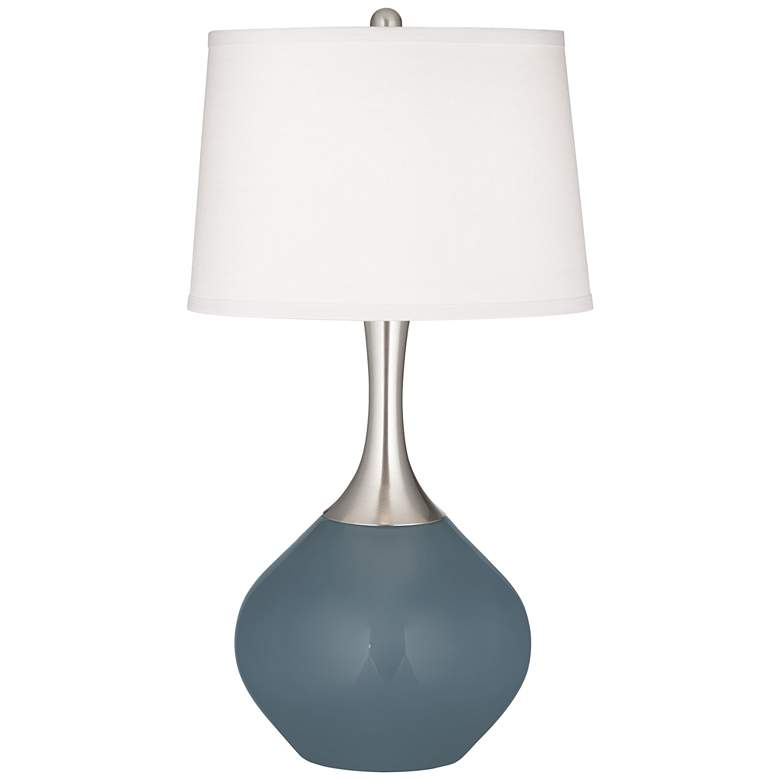 Smoky Blue Spencer Table Lamp