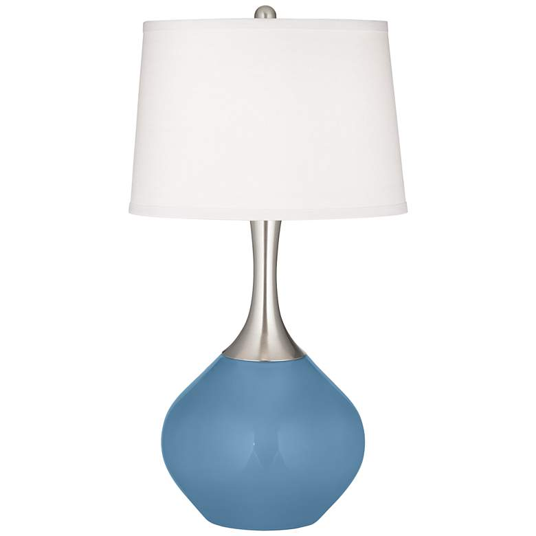 Secure Blue Spencer Table Lamp