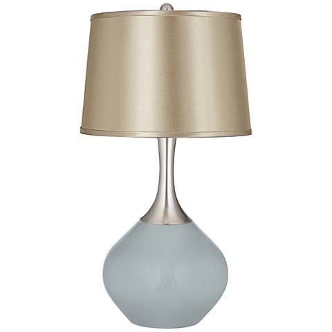 Uncertain Gray Satin Champagne Shade Spencer Table Lamp