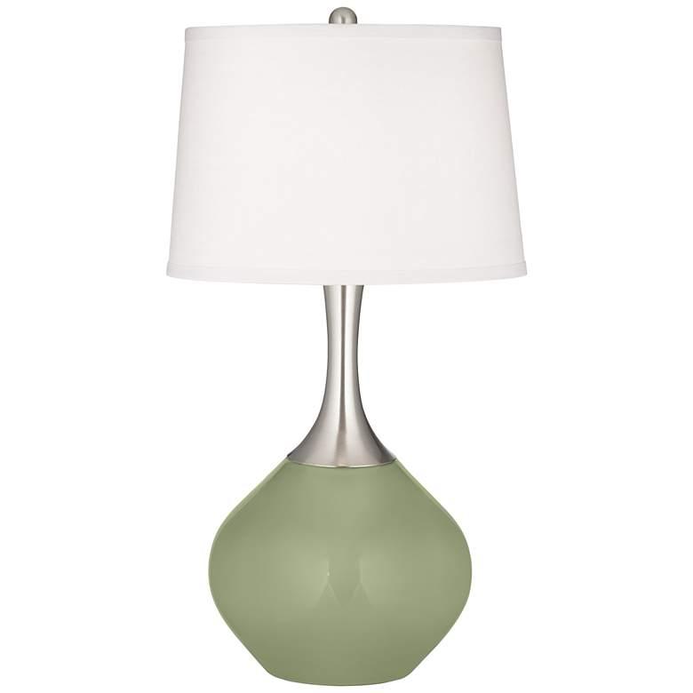 Majolica Green Spencer Table Lamp