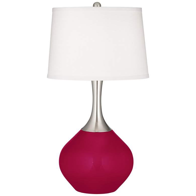 French Burgundy Spencer Table Lamp