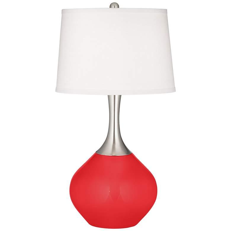 Poppy Red Spencer Table Lamp