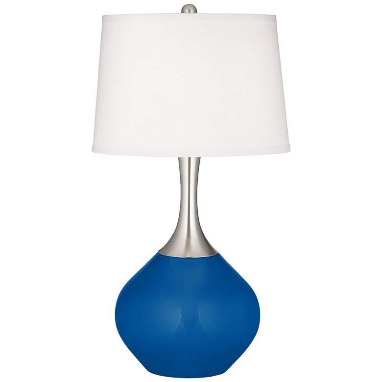 Hyper Blue Spencer Modern Table Lamp by Color Plus