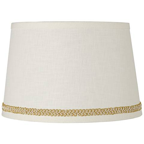 Linen Shade with Gold with Ivory Trim 10x12x8 (Spider)