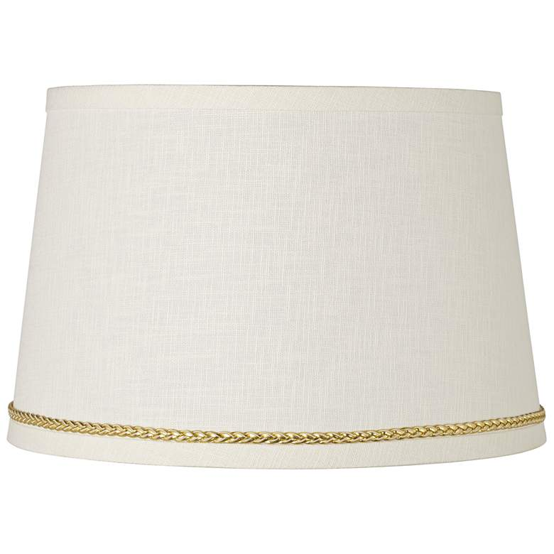 Linen Shade with Gold Luster Braid Trim 10x12x8
