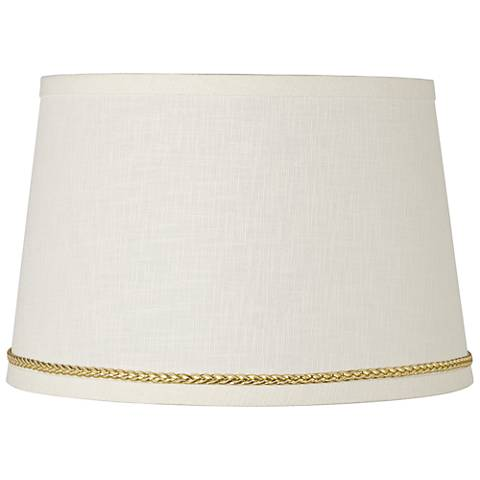 Linen Shade with Gold Luster Braid Trim 10x12x8 (Spider)