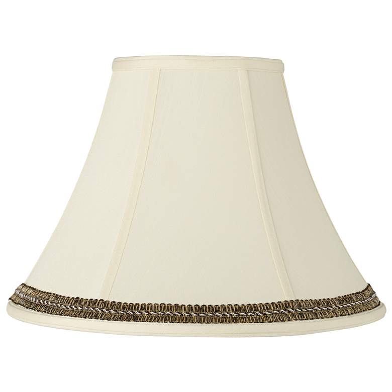 Creme Shade with Black and Gold Trim 7x16x12