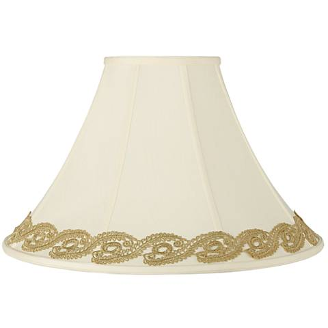 Bell Shade with Gold Vine Lace Trim 7x20x13.75 (Spider)