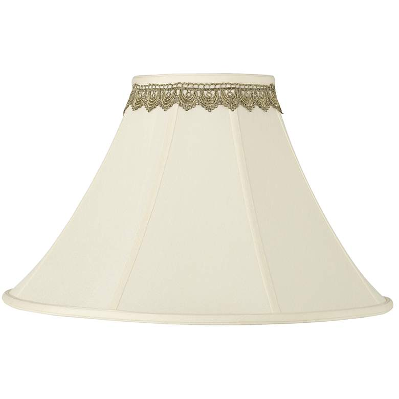 Bell Shade with Gold Lace Trim 7x20x13.75 (Spider)