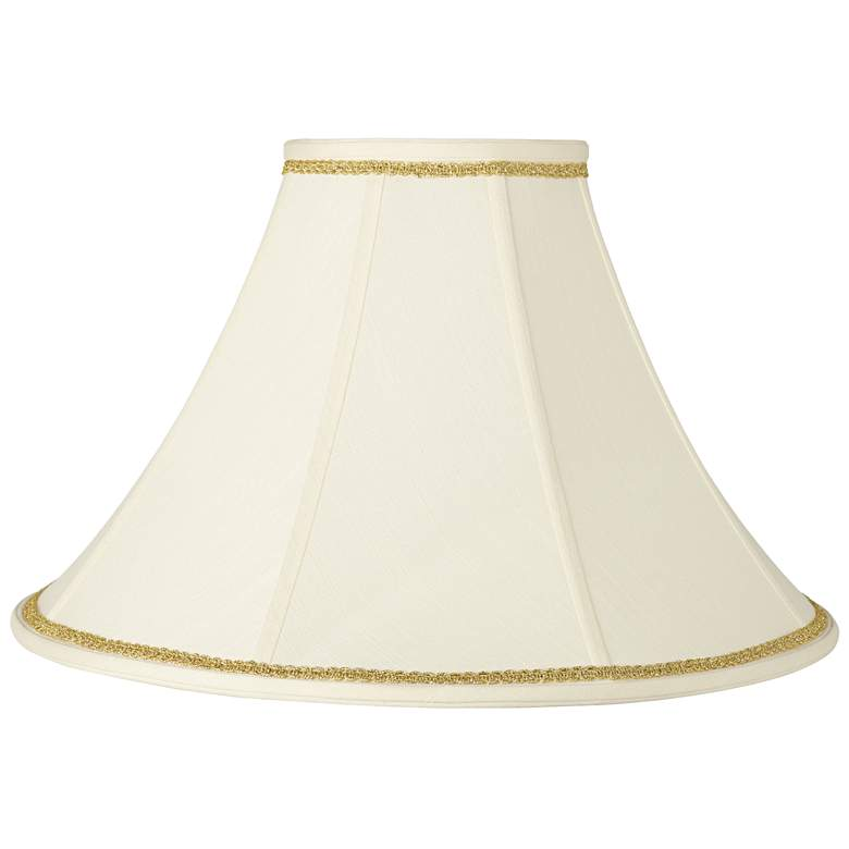 Bell Shade with Gold Scroll Trim 7x20x13.75 (Spider)