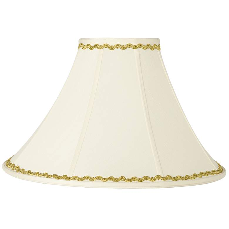 Bell Shade with Metallic Gold Wave Trim 7x20x13.75