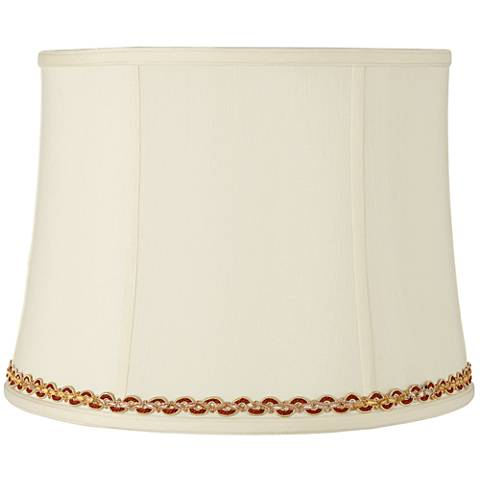 Drum Shade with Gold and Rust Trim 14x16x12 (Spider)