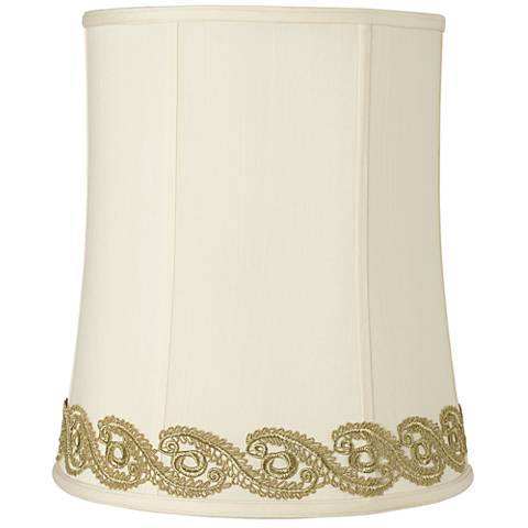 Deep Shade with Gold Vine Lace Trim 12x14x16 (Spider)