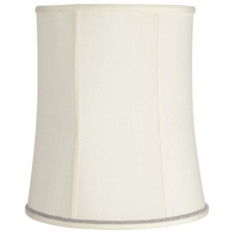 Creme Deep Shade with Silver Scroll Trim 12x14x16