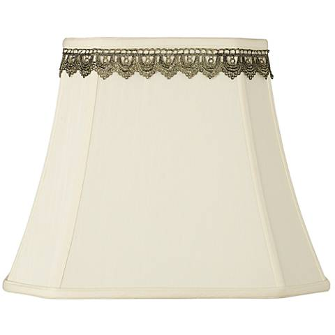 Rectangle Shade with Gold Lace Trim 10x16x13 (Spider)