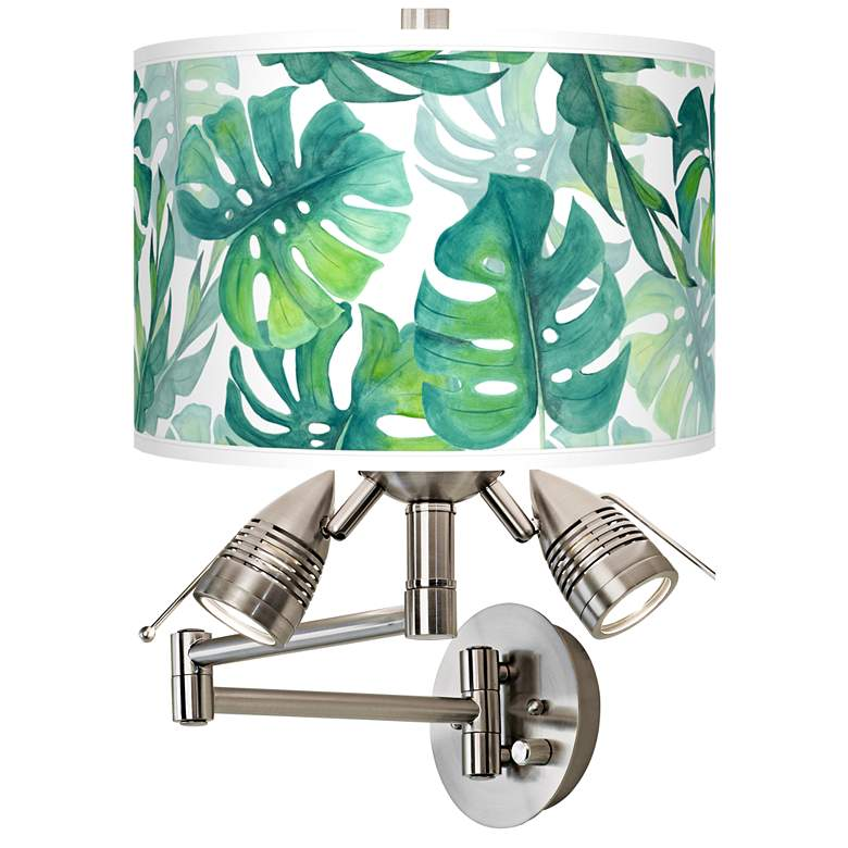 Tropica Giclee Plug-In Swing Arm Wall Lamp