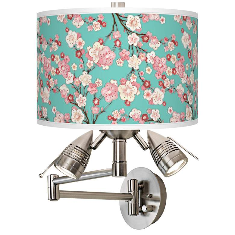 Cherry Blossoms Giclee Swing Arm Wall Light