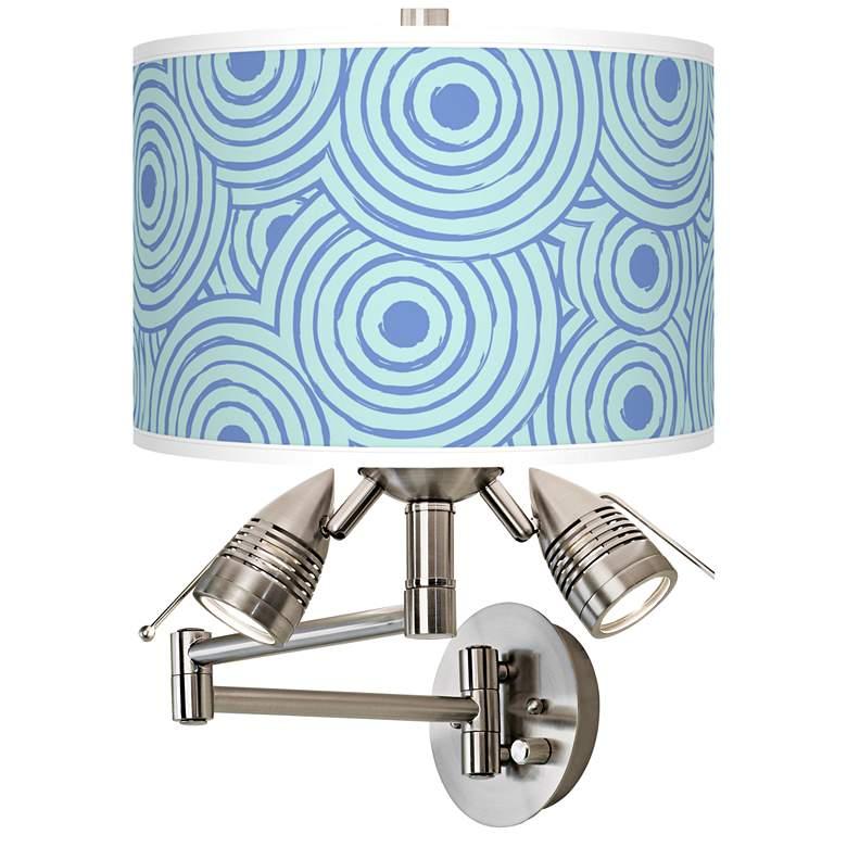 Circle Daze Giclee Plug-In Swing Arm Wall Lamp