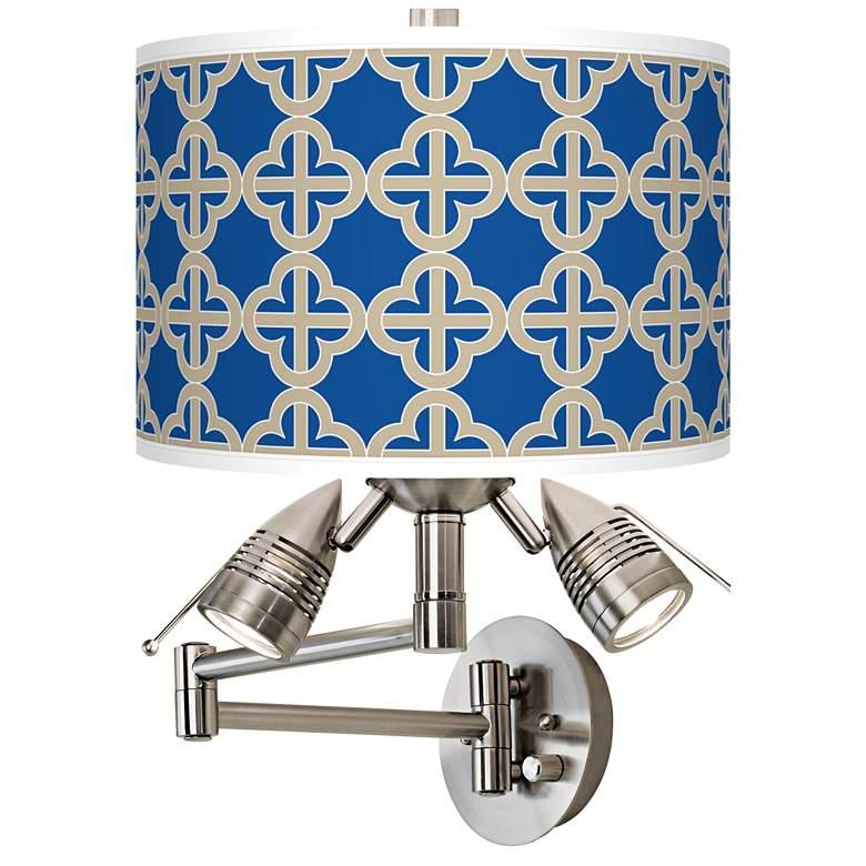 Four Corners Giclee Plug-In Swing Arm Wall Lamp