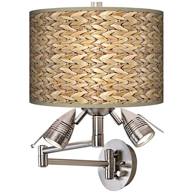 Seagrass Print Pattern Modern Swing Arm Wall Light